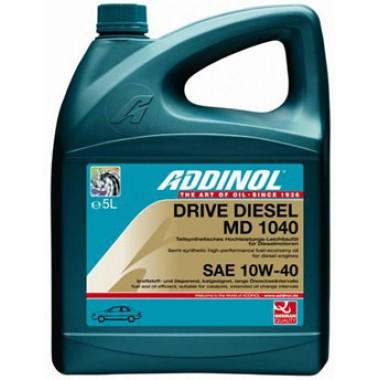 Масло моторное ADDINOL MD1040 DriveDiesel 10W40 полусинтетика ( 5L) API CF
